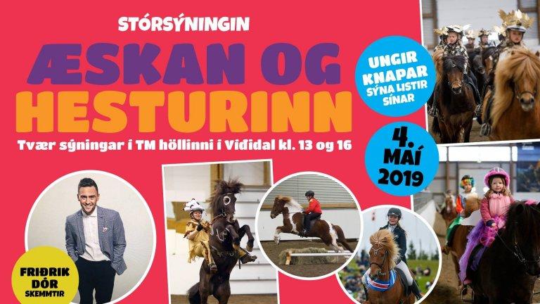 Æskan og hesturinn í TM reiðhöllinni Víðidal 4.maí